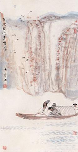 东坡夜游赤壁图