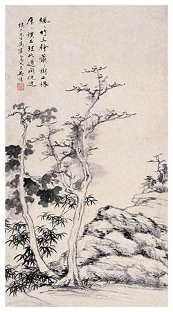 飒飒竹三竿,萧萧树二株
